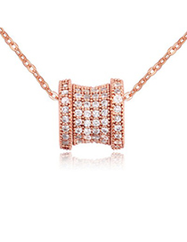 Mens white & rose gold diamond decorated transport bead design