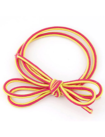 New Red Bowknot Shape Simple Design Rubber Band Hair Band Hair Hoop