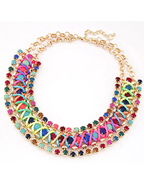 Cheerleadi Multicolor Gemstone Decorated Multilayer Weave Design