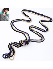 Automatic Multicolor Metal Chains Weave Simple Design