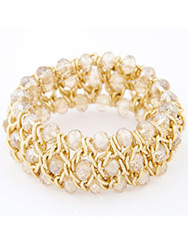 Rave White Multilayer Weave Design Alloy Fashion Bangles