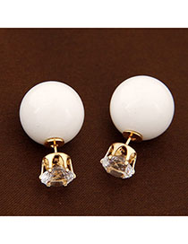 Celebrity White Diamond Decorated Round Shape Design