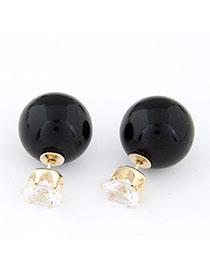 Bendable Black Diamond Decorated Round Shape Design