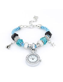 Players Blue Elements Decorated Simple Design Alloy Ladies Watches