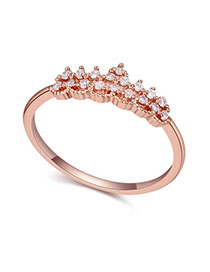 Correspond White & Rose Gold Crown Shape Decorated Simple Design