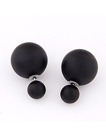 Native Black Pure Color Round Shape Simple Design