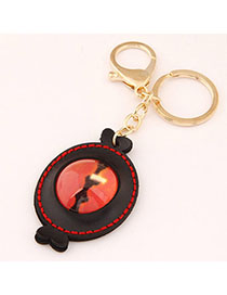Fishing Black Eye Decorated Candy Shape Design Alloy Fashion Keychain
