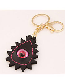 Health Black Eye Decorated Geometrical Shape Design Alloy Fashion Keychain