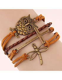 Bendable Orange Owl Shape Decorated Multilayer Design