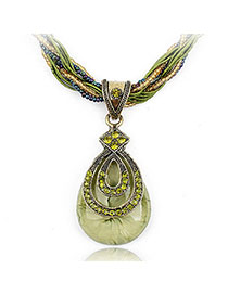 Scottish Green Diamond Decorated Waterdrop Pendant Design