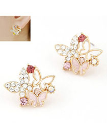 Juniors Multicolor Diamond Decorated Butterfly Shape Design
