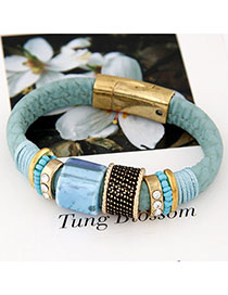 Fashionabl Blue Gemstone Decorated Simple Design