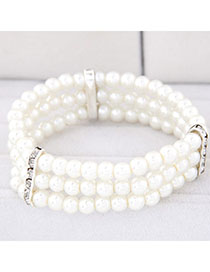 Writing White Pearl Decorated Multilayer Design