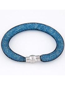 Pendant Blue Diamond Decorated Hollow Out Design Alloy Korean Fashion Bracelet