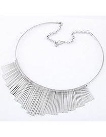Childrens Silver Color Pure Color Tassel Simple Design