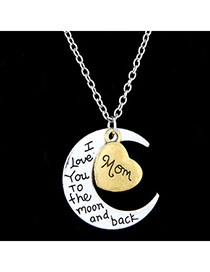 Marathon Bronze Moon Shape Pendant Simple Design