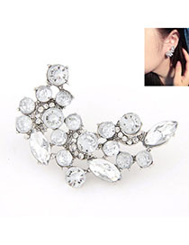 2012 Silver Color Diamond Decorated Simple Design Alloy Stud Earrings