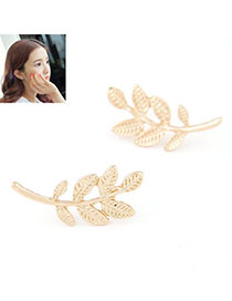 Fresh Gold Color Leaf Shape Decorated Simple Design