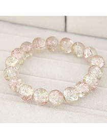 Crystal Multicolor Beads Decorated Simple Design Glass Korean Fashion Bracelet