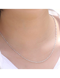 Newest Silver Color Pure Color Simple Design Cuprum Chains
