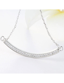 Elegant Silver Color Camber Shape Decorated Simple Design Cuprum Chains