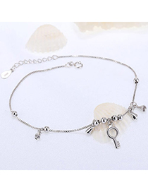 Trendy Silver Color Key Shape Decorated Simple Design Cuprum Fashion Bracelets