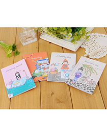 Clutch color will be random cartoon pattern simple design paper Notebook Agenda