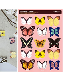 Baroque multicolor butterfly pattern sticker design paper Other Creative Stationery