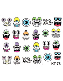 Nameplate  3D Cartoon Eyeball Design Stickers Nails