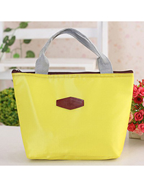 Profession Yellow Portable thermal insulation bag lunch bag Oxford Fabric Handbags