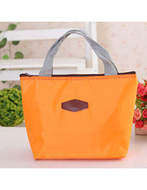 Monarch Orange Portable thermal insulation bag lunch bag Oxford Fabric Handbags