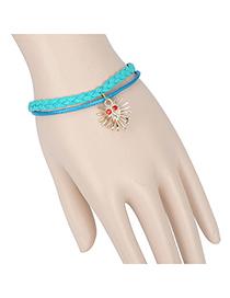 Jogging green phantom decorated double layer design alloy Korean Fashion Bracelet