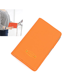 Outlook Orange Pure Color Simple Design Leather Household goods