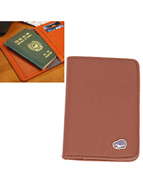 Luxurious Coffee Pure Color Simple Design Leather Other Creative Stationery
