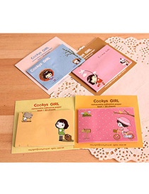Tungsten Random Color Cartoon Girl Pattern Simple Design Paper Stickers Tape