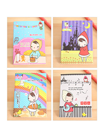 Diaper Random Color Cartoon Girl Pattern Simple Design Paper Notebook Agenda