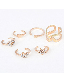 Barbie Gold Color Geometrical Shaple Simple Design(6pcs)