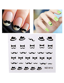 Standard Black & White Diy Moustache Pattern Simple Design