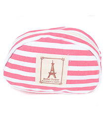 Plaid Red Eiffel Tower Pattern Simple Design Canvas Household Goods