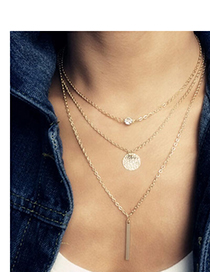 Catholic Gold Color Hollow Out Round Shape Decorated Simple Design Alloy Chains