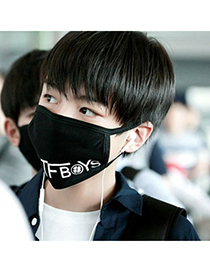 Quilted Black Letter Tfboys Decorated Simple Design