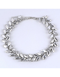 Hiking Silver Color Leaf Shape Decorated Simple Design