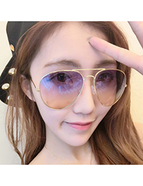 Garnet Multicolor Thin Frame & Legs Simple Design Resin Women Sunglasses