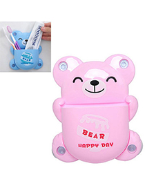 Plain Pink Bear Shape Simple Design Plastic Household Goods