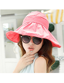 Huge Watermelon Red Pure Color Sun-shading Design