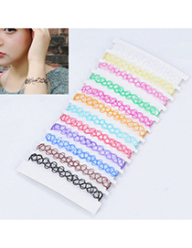 fashion Multicolor Round Shape Elastic Simple Design Alloy Fashion Bangles