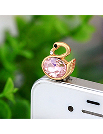 elegant Pink Swan Shape Simple Design