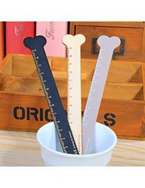Delicate Random Color Bone Shape Wood Ruler Simple Design Wood Other Creative Stationery