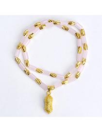 temperament Pink Peanut Shape Decorated Doulbe Layer Design