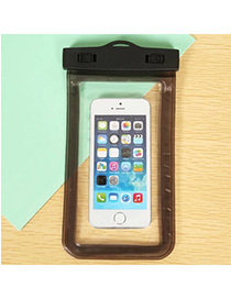 transparent Black Rectangle Shape Waterproof Case Design